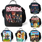 Roblox Insulated Lunch Box Xmas Gift Food Storage Cooler Travel Snack Lunch Bags