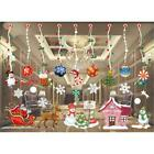 Christmas Window Wall Decorations Removable Stickers Decal Home Room Decor