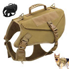 Tactical Dog Harness No Pull Military K9 Working Training MOLLE Vest Black Brown