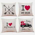1x(modern Design Of Mother's Day Cushion Set Printed Pillow Set Home Beddin K4s9