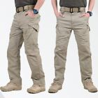 Men's Soldier Tactical Waterproof Pants Cargo Pants Combat Hiking Outdoor Pant