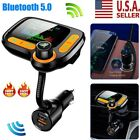 Bluetooth Wireless In Car MP3 FM Transmitter Car Radio Adapter W/ 2 USB Charger