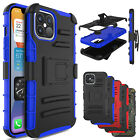 For iPhone 12/Mini/Pro Max/11 Holster Case Shockproof Cover Kickstand Belt Clip