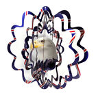 WorldaWhirl Whirligig 3D Eagle Wind Spinner Twister Patriotic Patio Home Decor