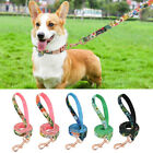 5ft Floral Dog Lead Strong Nylon Walking Leash Traction Rope Small Medium Large