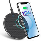 10W Qi Wireless Fast Charging Pad Dock for iPhone Samsung Android Cell Phone