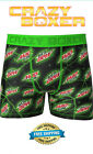 Crazy Boxers Men's Boxer Briefs Mountain Dew Green NEW IN PACKAGE FREE SHIPPING!