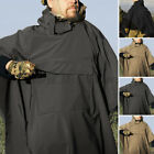 Adult Mens Raincoat Waterproof Hooded Rain Jacket Hooded Poncho Outwear Outdoor