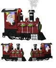 Lightup Santa Train - Multicolour LED Lights Christmas Steam Locomotive Ornament