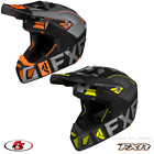 New FXR Clutch Evo Helmet Snowmobile Motocross Black/Char/HiVis/Org LG XL 2XL