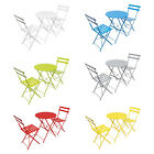Woodside Outdoor Garden Patio Folding Table & Chair Bistro Set, 6 Colours
