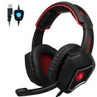 SADES Spirit Wolf 7.1 Surround Sound Stereo LED USB Computer Gaming Headset