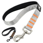"""15"""" Short Dog Leash with Padded Handle Strong Traffic Lead Close Control Black"""