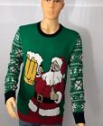 Ugly Christmas Sweater - Santa Beer Mug - Multiple Sizes - Holiday Party