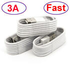 3-Pack USB Data Fast Charger Cables Type C Micro USB For iPhone Samsung Android