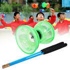 Soft Hand Play Toy Diabolo Set Professional Bearing Funny With Rope Light Glow