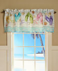 FLIP FLOP Shower Curtain or Valance Summer Beach Sandal Bath Decor