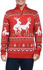 Tipsy Elves Men's Christmas Climax Sweater - Funny Humping Reindeer Ugly Christm
