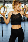 NEW Free People Movement Seamless ECONYL Crop Bra Black XS/S-M/L Made In Italy