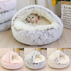 Cuddle Cave Pet Dog Bed for Cats Small Dogs Calming & Cozy Covered Sleeping Bed