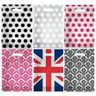 Plastic Carrier bags - Damask, Union Jack, Polka Dot for Boutiques Gifts Markets