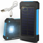 900000mAh Waterproof Solar Power Bank 2USB Battery Charger LED for Mobile Phone