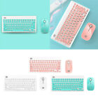 CUTE Wireless KeyBoard  Mouse Desktop Combo Set With FN Compound Keys Notebook