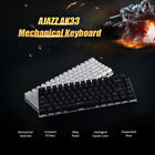 AJAZZ RGB Mechanical Keyboard Mini 82 Keys Layout Blue Black Switch Wired