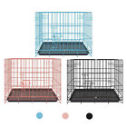 Animals Dog Puppy Cage Pet Folding 2 Door Crate with Plastic Tray and Handle