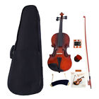 Natural Basswood Full Size 4/4 1/8 1/2 Acoustic Violin Set with Case +Bow +Rosin