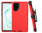 Holster Kickstand Case For Samsung Galaxy Note 10 Premium Protection Red Cover
