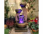 Kanthoros Contemporary Water Feature, Solar Powered, Modern Water Feature