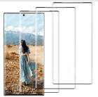 Galaxy Note 10 Plus Case HD Clear Tempered Glass Full Max Coverage Black 3 Pack