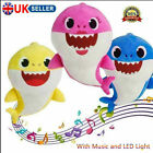 Baby Cartoon Plush Shark Toys Soft Singing Dolls Cute Gift for Kids Boys Girls