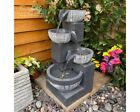 Eclipse 4 Bowl Contemporary Water Feature Water Feature, Mains Powered, Fountain