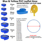 BLUE PVC LAYFLAT HOSE-WATER DISCHARGE PUMP IRRIGATION  LAY FLAT DELIVERY PIPE