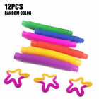 Fidget Pop Tube Toys Sensory Stretch Pipe Tools Decompression Stress 1/6/12PCS
