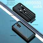 1000000mAh Backup External Battery USB Power Bank Pack Charger for Cell Phone