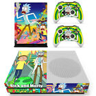 Xbox One Slim S X Console Controllers Cover Rick Morty Vinyl Decal Skin Stickers