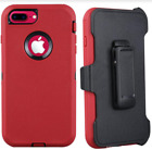 Apple IPhone 7 Case Holster Kickstand Protective Red Hybrid Rugged Slim Cover