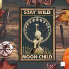 Stay Wild Moon Child poster, Hippie girl poster, Vintage poster