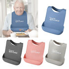 Silicone Adult Bib Apron with Pocket Mealtime Protector Full Protection