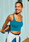 NEW Free People Movement Happiness Runs Square Neck Crop In Jewel XS/S-M/L 40