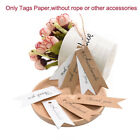 100pcs White Kraft Paper Hang Tags Wedding Party Favors DIY Label Gift Cards