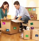 Home Moving Colour Coded Box Labels / Stickers To Help Organise Your House Move
