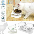 Anti-Vomiting Orthopedic Pet Bowl Non-slip Tilt Pet Cat Dog Food Water Feeder UK