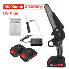6'' 288V Cordless Electric Chain Saw Wood Mini Cutter 1200W Saw Woodworking Tool