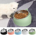 NEW Cat Raised Bowl No-slip Stainless Steel Elevated Stand Tilted Feeder Bowls