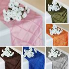 "20 PINTUCK TAFFETA 12x108"" Table RUNNERS Wedding Party Catering Supplies SALE"