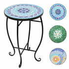 Round Side Table Mosaic Ceramic Garden Plant Stand Holder Coffee End-4 Styles